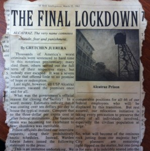 alcatraz newspaper clipping